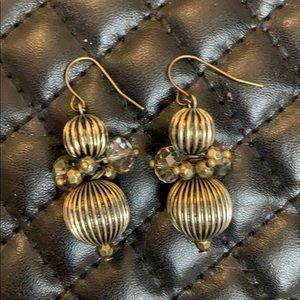 Gorgeous Silver Swarovski Bead Earrings